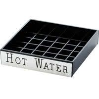 Cal-Mil 632-3 4 inch Engraved Silver Hot Water Drip Tray