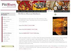 Pitt Rivers Museum website - Databases