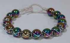 Cross wire wrapped bracelet