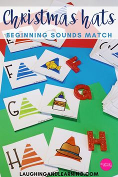 This festive hat activity is perfect for practice beginning sounds, and will make a perfect addition to any Christmas themed literacy centre! #printableactivities #preschoolactivities #literacyactivities #preschoolliteracycentre #printableliteracyactivitiy #printableliteracyactivities #education #printableactivitiesforkids  #christmasthemedactivities Christmas Activities For Kids, Printable Activities For Kids, Alphabet Activities, Literacy Activities, Literacy Centers, Educational Activities, Christmas Hat, Christmas Themes, Early Reading