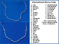 morse code necklaces. i love gifts with meaning and doing this for someone would be so cool!