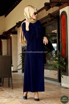 Lacivert Uzun Elbise Alvina | Yeni Sezon | Armine | Kayra | Setrms