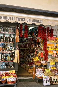Tropea, Italy... I've been to this exact store! :) (And have the same picture on my computer!)