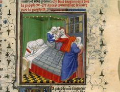 Bible historiale by Guiard des Moulins, beginning of the 15th century, Birth of Israel (BNF Fr. 10, fol. 444)