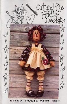 Coisinhas de Pano: Bonecas country moldes Fall Mason Jars, Homemade Dolls, Raggedy Ann, Sewing Dolls, Soft Dolls, Fabric Dolls, Rag Dolls, Diy Doll, Doll Patterns
