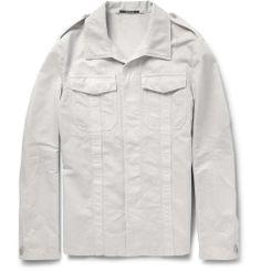 Lightweight Cotton and Linen-Blend Twill Field Jacket  by Maison Martin Margiela