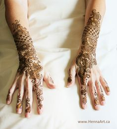 A cute Indo-Arabic fusion design for a lovely lady overcoming melanoma. HennaArt.ca: Henna after Melanoma