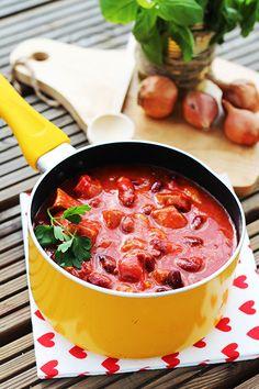 Gulasz meksykański Jambalaya, Thai Red Curry, Food And Drink, Menu, Mexican, Snacks, Dinner, Cooking, Ethnic Recipes