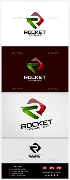 Rocket Technology  Logo Design Template Vector #logotype Download it here: http://graphicriver.net/item/rocket-technology-logo/10430977?s_rank=1460?ref=nexion
