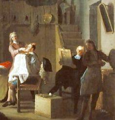 Michel Ange Houasse  The Barber Shop (1719)