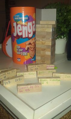 (Just the picture, ignore the link) Math Jenga - adapt for geometry, algebra, stats. Teaching First Grade, Third Grade Math, Teaching Math, Math Pages, School Prayer, Teaching Secondary, Math Talk, Classroom Games, Guided Math