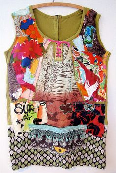 ERUPTION Oversized Tunic Top Wearable Art Collage by mybonny, $95.00