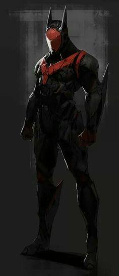 Batman redesign by Tyler Ryan /// Holy faceplate, Batman! Neat variant, with interesting nods to Red Hood, Nightwing, and Batman Beyond. Comic Book Characters, Comic Book Heroes, Comic Character, Comic Books Art, Comic Art, Character Design, Superman, Im Batman, Batman Art