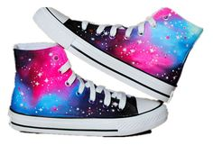 Galaxy Converse shoes Custom Converse Galaxy Converse Sneakers Hand-Painted On Converse Shoes Style Converse, Cool Converse, Custom Converse, Outfits With Converse, Converse Sneakers, Converse All Star, Custom Shoes, Converse High, Galaxy Converse
