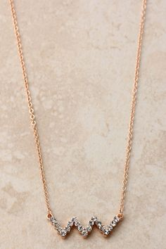 Crystal Ziggy Necklace, cute and simple!