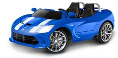Kid Trax Dodge Viper SRT Ride On. The Dodge Viper 12 volt car is a must for any child who want to be cool! Electric Sports Car, Best Electric Car, Electric Vehicle, Power Wheels, Power Cars, New Luxury Cars, Dodge Viper, Kids Ride On, Ride On Toys