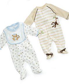 Little Me Baby Boys Sleeper, Monkey or Teddy - Kids - Macy's
