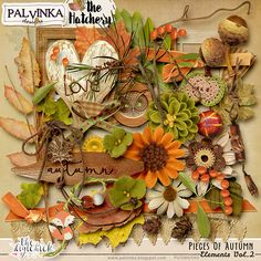 Pieces Of Autumn Elements pack 2 by Palvinka Designs | Digital Scrapbook @ at The Digichick