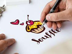 Logo Souffle and confectionery by Vitali Raidziuk