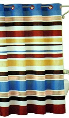 Hookless Fabric Shower Curtain  Century Stripe * See this great product.