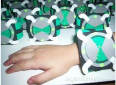 We can make Ben 10 bracelets for the kids to wear and play with!