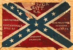2nd Georgia Sharpshooters Battle Flag with Battle Honors.