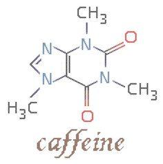 Caffeine molecule cross stitch--ha--should I make this one for Jason?