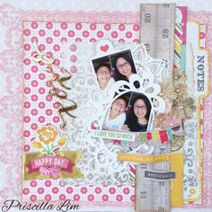 Sharing a pretty layout for our local scrapbook store - Made With Love Singapore. Do visit link for more details. Thanks. http://growingwithgabriel.blogspot.sg/2016/03/you-rock-my-world-project-for-made-with.html