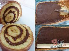 Nadýchaná roláda s marmeládou hotová za 15 minut Spaghetti Eis Dessert, Torte Recepti, Superfood, Just Desserts, Pancakes, Clean Eating, Food And Drink, Pie, Sweets