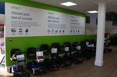 See our range of mobility scooters now, come on down to our Hayes showroom today! To find out more give us a call on 0208 561 Mobility Scooters, Showroom, How To Find Out, Range, Shopping, Cookers, Stove, Fashion Showroom