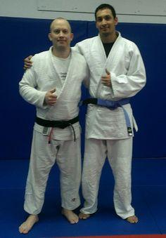 Salvador earning his blue belt  in BJJ!