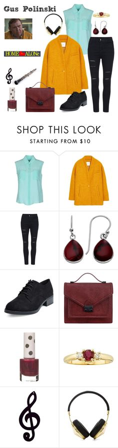 """Gus Polinski - Home Alone"" by ashleigh-kuzio on Polyvore featuring Tru Trussardi, MANGO, Loeffler Randall, Topshop, Dot & Bo and Frends"