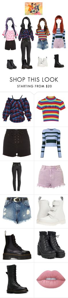 """《BitterSweet》 Weekly Idol"" by bittersweetoffical ❤ liked on Polyvore featuring Anna October, Topshop, Proenza Schouler, Vetements, Miss Selfridge, River Island, Dr. Martens, UNIF and Lime Crime"