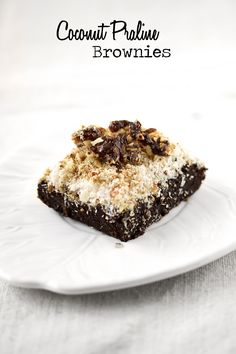 coconut praline brownies ~