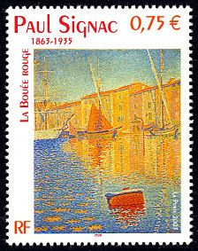 'La bouée rouge / The Red Buoy' - Paul Signac Paul Signac, Art Français, Art Ancien, Postage Stamp Art, Make Pictures, Vintage Stamps, Art Series, Tampons, Stamp Collecting