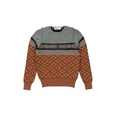 Toga Womens Patterned Sweater ($675) ❤ liked on Polyvore