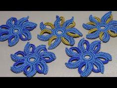 Вязание цветка для наборного ирландского кружева.Урок вязания крючком. - YouTube