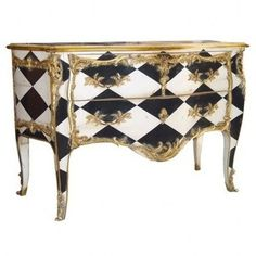 Another Great Cabinet With A Touch Of Gold For Extra Alice Magic Hand Painted Furniture