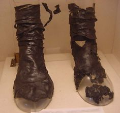 Merovingian boots, ca. 700, Musée National du Moyen Âge de Cluny