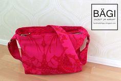 Free bag pattern (in Finnish) Diy Bags Purses, Diy Purse, Sewing Patterns Free, Free Sewing, Bag Patterns, Free Pattern, Easy Sewing Projects, Sewing Hacks, Sewing Ideas