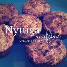 Baka nyttiga muffins med morötter och äpple - perfekt till frukost eller mellanmål!