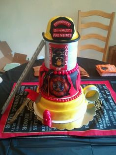 Firefighter High School graduation cake!