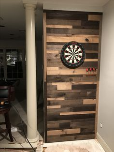 different color wood wall ... like this better