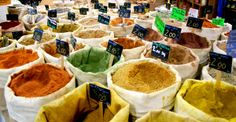 Middle Eastern spices are a popular buy at the Marché de Noailles in the heart of Marseille (photo courtesy of Marseille Bondy Blog)