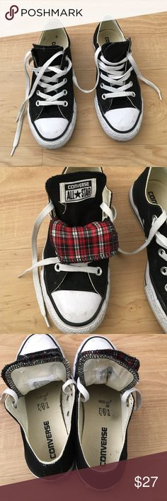 Black converse Used but still in great conditions, size 6 women Converse Shoes
