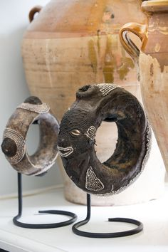 Old African bangles by Fortunata.