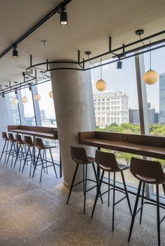 Juice Bar Interior, Cafe Interior, Office Interior Design, Office Interiors, Office Bar, City Office, Restaurant Seating, Bar Seating, Cafeteria Design