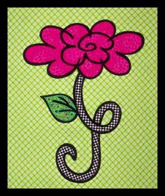 """Quilted wall hanging pattern - Miss Priss - 18"""" x 21"""" - $8"""
