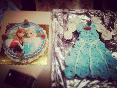 Τούρτα 🎂 & cupcakes φόρεμα 🍰👗 για πάρτι με θέμα frozen ❄ (pull apart cupcake frozen cake - frozen birthday party ideas)