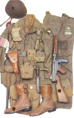 World War Two Airborne Reenacting Military Gear, Military Photos, Military Weapons, Military Equipment, Military History, Military Uniforms, American Uniform, Military Insignia, Band Of Brothers